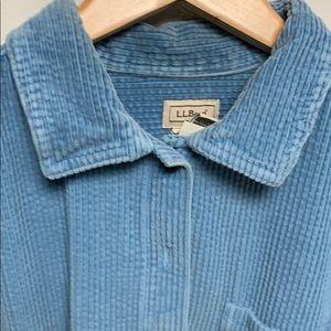 LLBean corduroy shirt  size LP